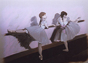 Wall Art by Allyson, Degas Ballet, degas mural, girl's room mural,ballet mural, mural, wall art, pink and brown mural