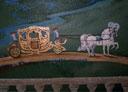 Wall Art by Allyson, Castle Detail,castle landscape mural, fantasy castle mural, hand painted mural, mural