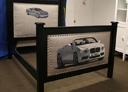 Wall Art by Allyson, custom car bed,custom boys bed,car bed,hand painted car bed,race car bed, kids furniture