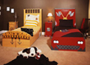 Wall Art by Allyson, Pirate and race car beds,custom boys bed,car bed,hand painted car bed,race car bed, kids furniture