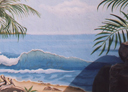 Wall Art by Allyson, Wall Art by Allyson, Beach mural,wave mural, hand painted mural, seascape mural, landscape mural,mural, wall art